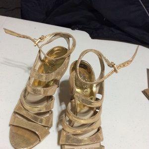 Michael Kors Party-ready Sandals, gold 7M